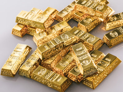 金塊がたくさんある